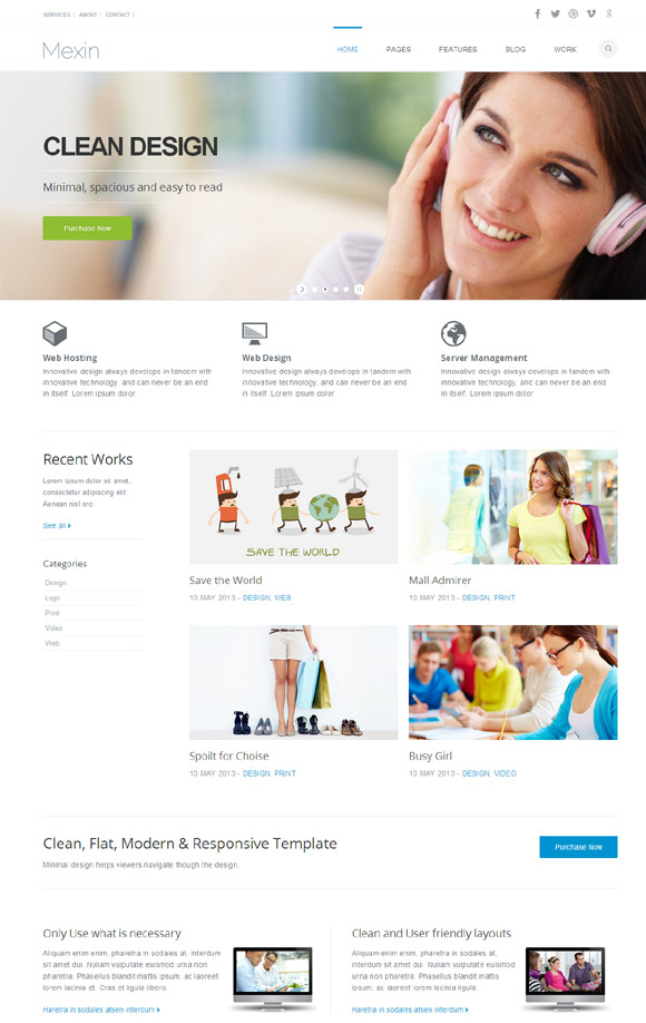 Mexin - Premium Multipurpose Responsive Theme - Business