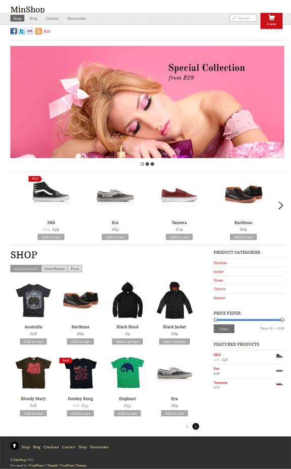 Minshop WordPress WooCommerce Theme - Ecommerce>WooCommerce