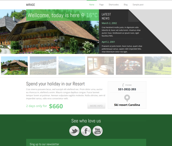 Mirage Wordpress Theme - Travel