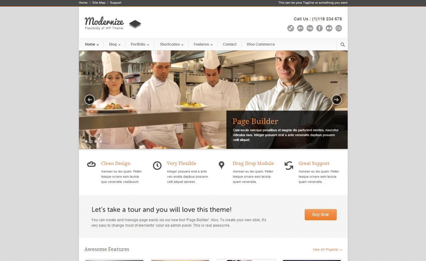 Modernize - Flexibility of Wordpress - Business
