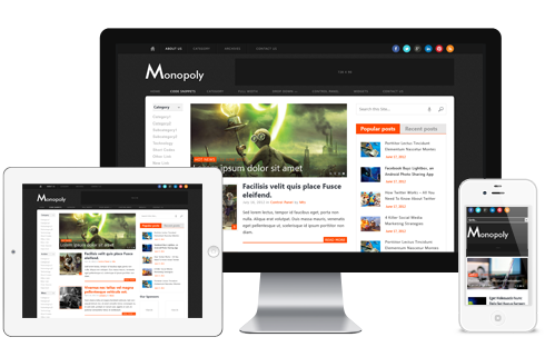 Monopoly WordPress Theme - Magazine
