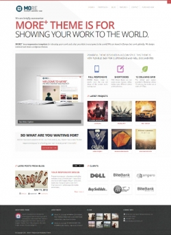 More+ Responsive WordPress Theme - Business|Portfolio
