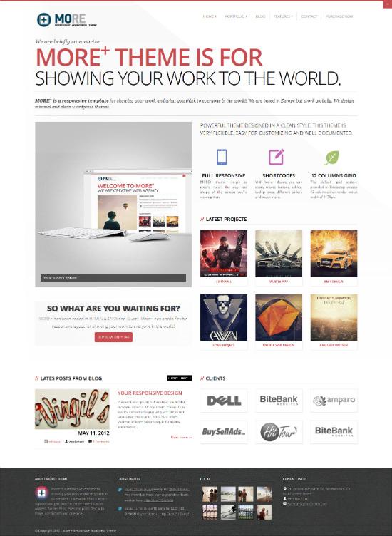 More+ Responsive WordPress Theme - Business|Portfolio