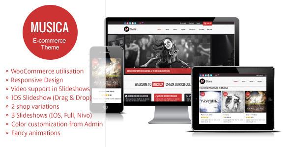 Musica - Responsive WordPress WooCommerce Theme - Ecommerce>WooCommerce
