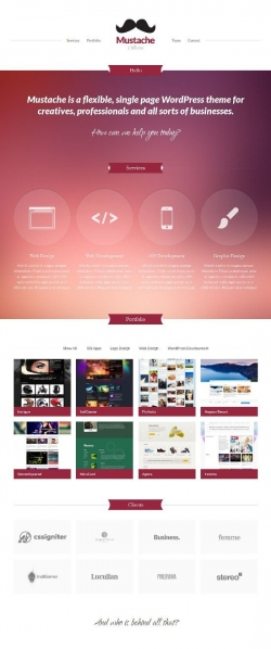 Mustache Wordpress Theme - Portfolio
