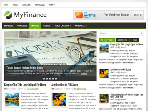 MyFinance- free wordpress theme - Blog|Free wordpress themes