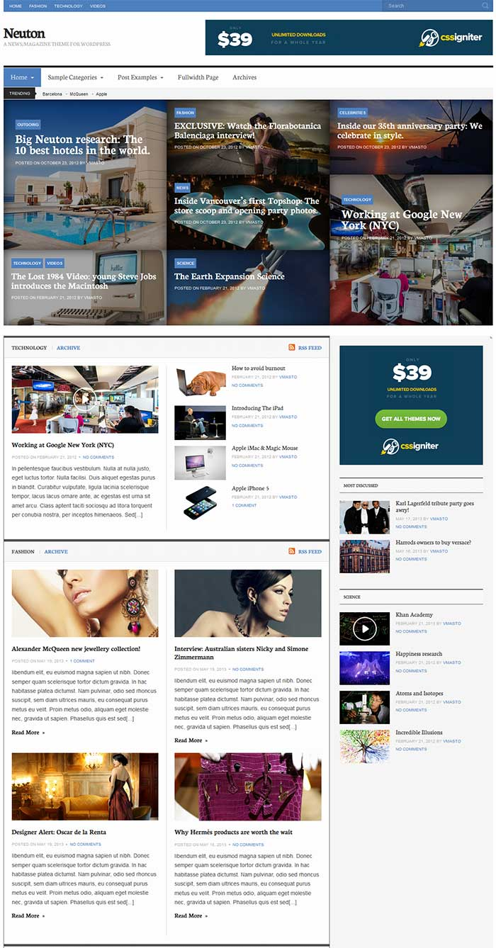 Neuton Magazine WordPress Theme - Magazine|Review