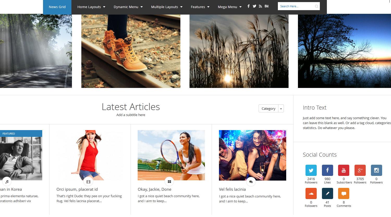 News Grid - WP Magazine Theme - Magazine