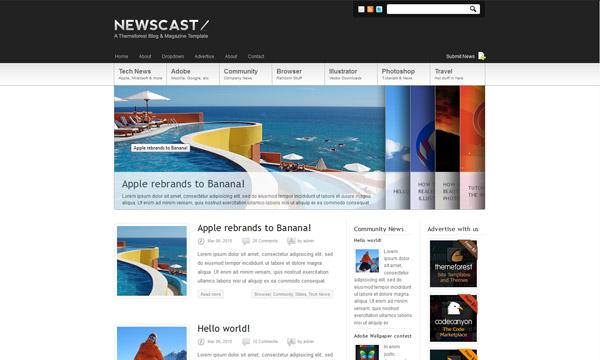 Newscast 4 in 1 - Wordpress Magazine and Blog - Magazine