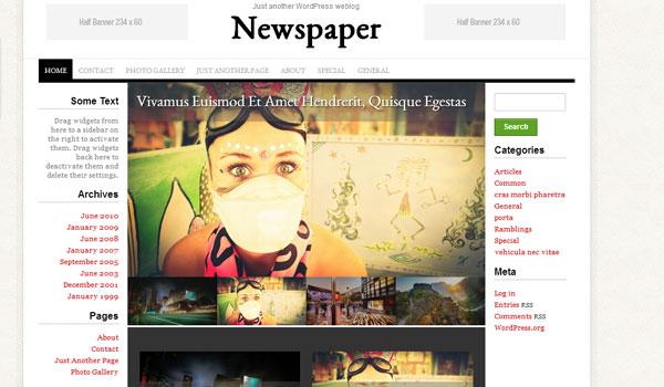 Newspaper free WordPress Theme - Free wordpress themes|Magazine