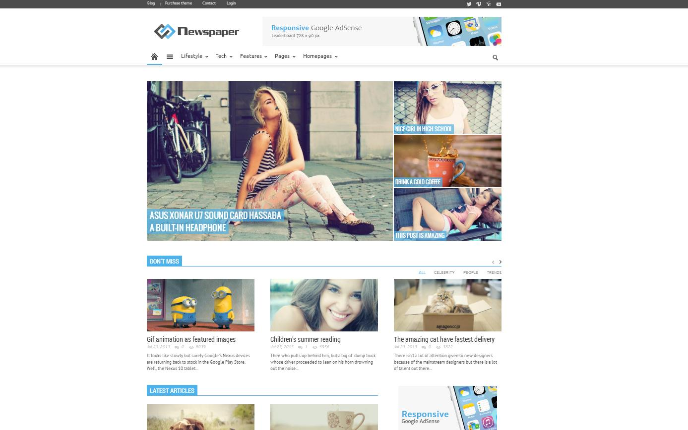 Newspaper WordPress Theme - Magazine|Review