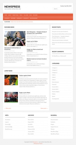 Newspress free wordpress theme - Free wordpress themes|Magazine