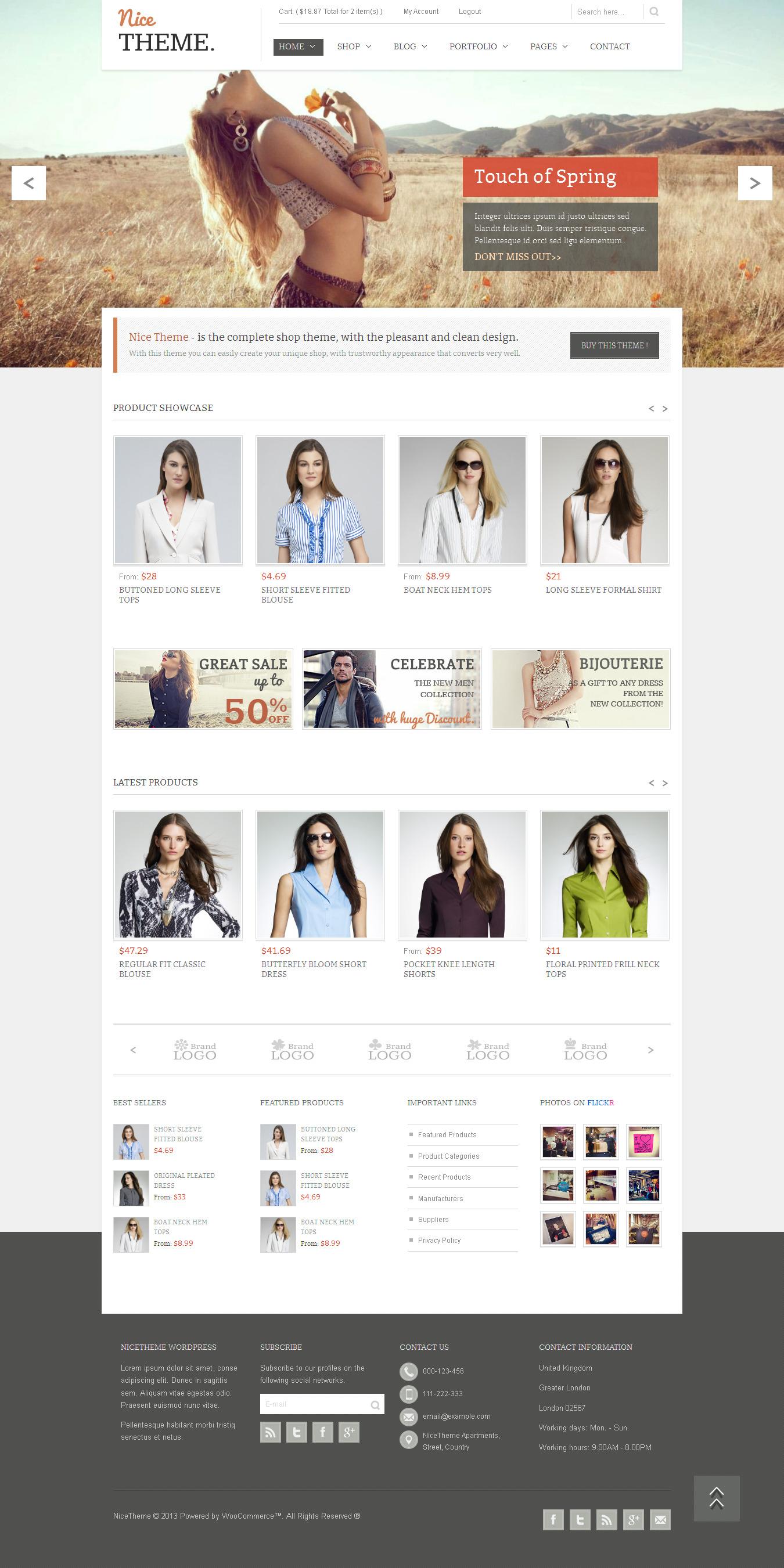 NiceTheme - Clean Wordpress and Woocommerce Theme - Ecommerce>WooCommerce
