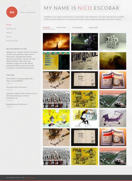 Nico WordPress Theme - Portfolio|Tumblr-Style