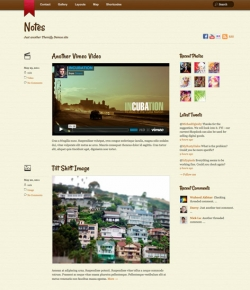 Notes - Tumblr-Style WordPress Theme - Tumblr-Style