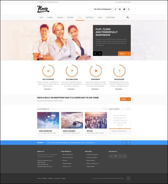 Nova - Flat & Clean Responsive Theme - Business