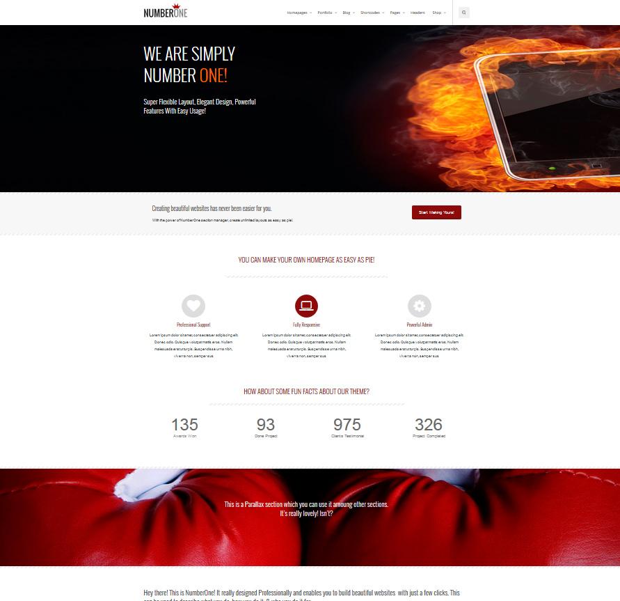 NumberOne - Premium Multi-Purpose + Onepage Theme - Business|OnePage