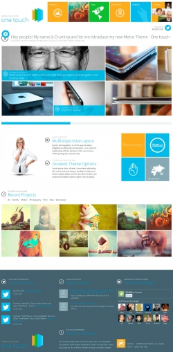 One Touch - Multifunctional Metro Stylish Theme - Metro-style
