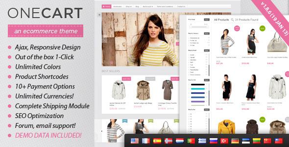 OneCart - Ajax Responsive E-Commerce WordPress Theme - Ecommerce