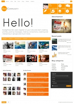 OneCommunity - BuddyPress Theme - BuddyPress