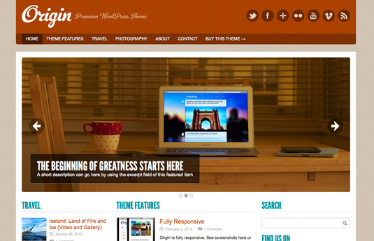 Origin Free Wordpress Theme - Blog|Free wordpress themes