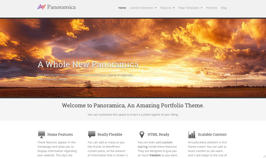 Panoramica Free Wordpress Theme - Free wordpress themes|Portfolio
