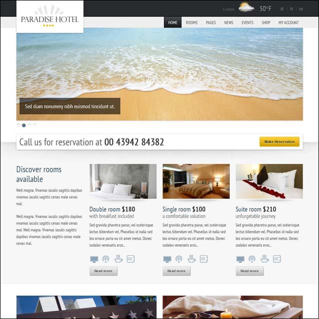 Paradise Hotel - Responsive WordPress Hotel Theme - Hotel|Travel
