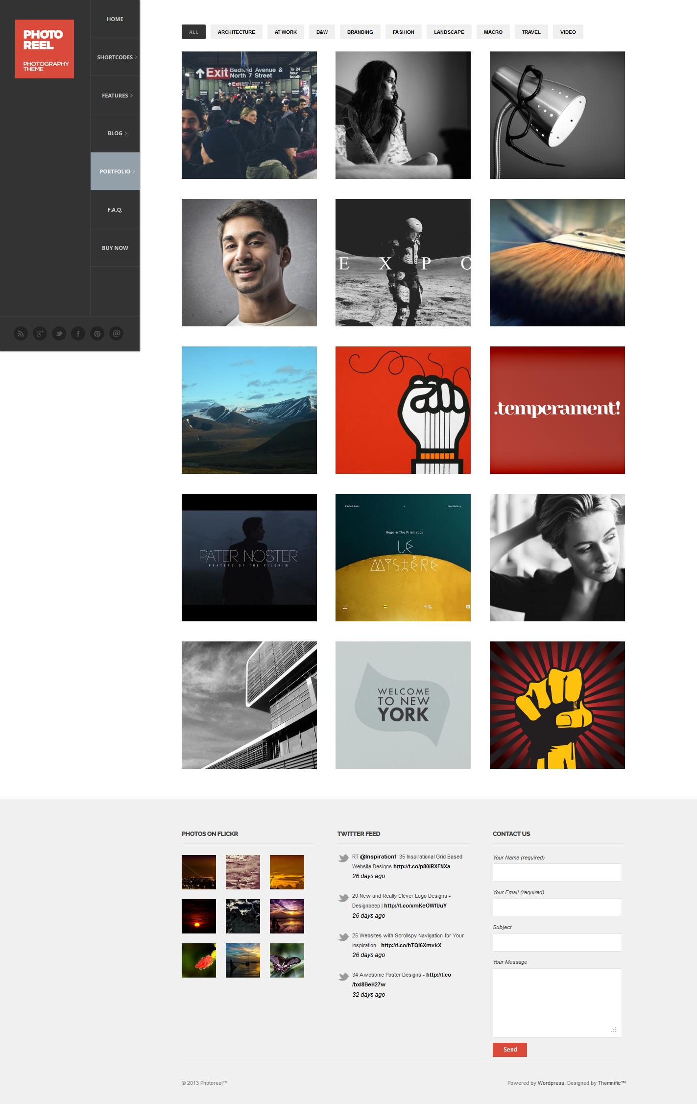 Photoreel - Elegant & Responsive Photography Theme - Gallery|Photography