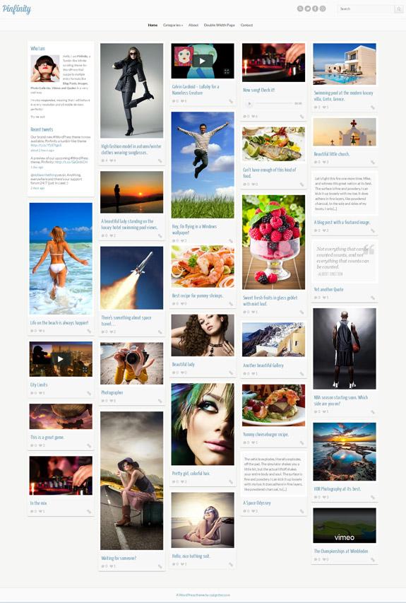 Pinfinity tumblr-like theme for WordPress - Pinterest