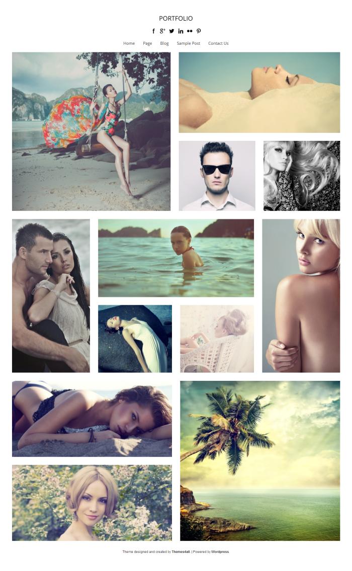 Portfolio WordPress Theme - Photography Portfolio
