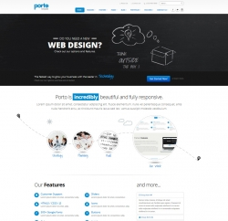 Porto Multipurpose Responsive WordPress Theme - Business