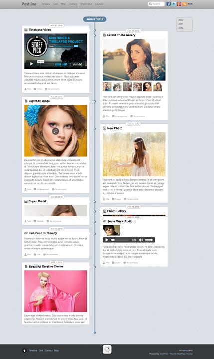 Postline WordPress Theme - Magazine|Metro-style
