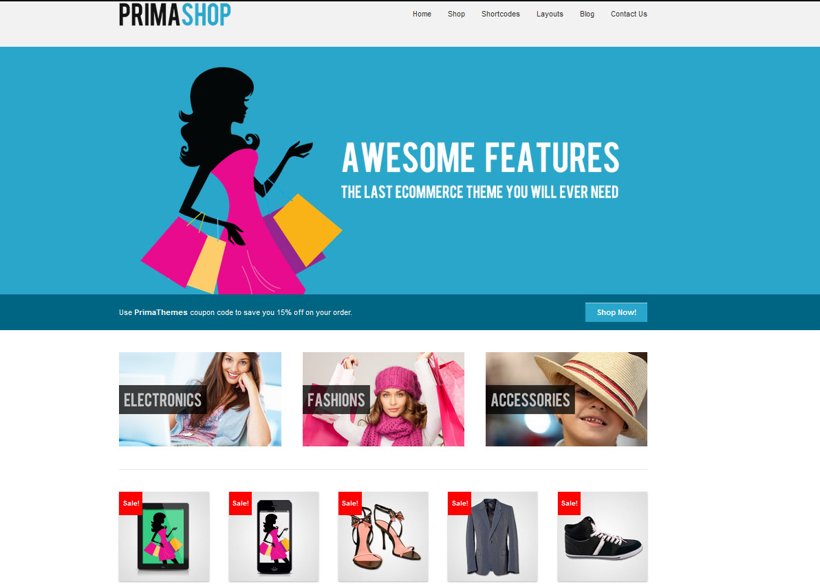 PrimaShop - Clean WooCommerce WordPress Theme - Premium wordpress themes|Ecommerce>WooCommerce