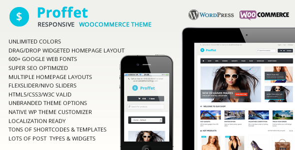 Proffet - Responsive WooCommerce Theme - Ecommerce>WooCommerce