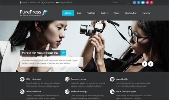 PurePress: Responsive & Retina Ready Portfolio - Photography