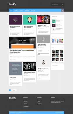 Quickly - Handcrafted WordPress Theme - Magazine|Pinterest