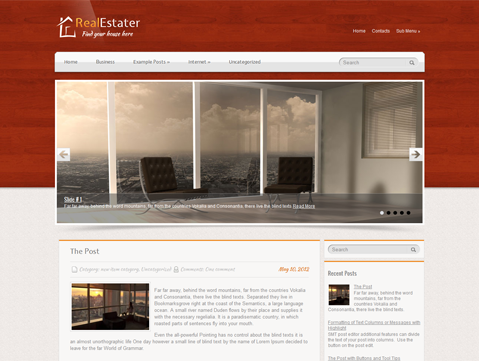 RealEstater - free wordpress theme from SMThemes - Blog|Free wordpress themes