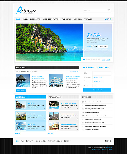 20+ Best Travel WordPress Themes 2014 - Themes4WP