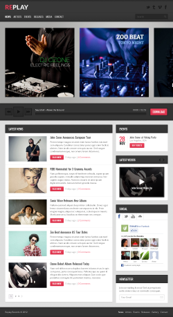 Replay - Responsive Music WordPress Theme - Music|Premium wordpress themes