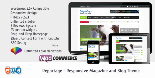 Reportage - Magazine & Blog Theme - Premium wordpress themes|Ecommerce>WooCommerce