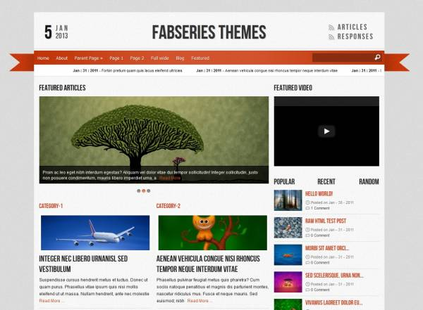 Reporter free wordpress theme - Blog|Free wordpress themes