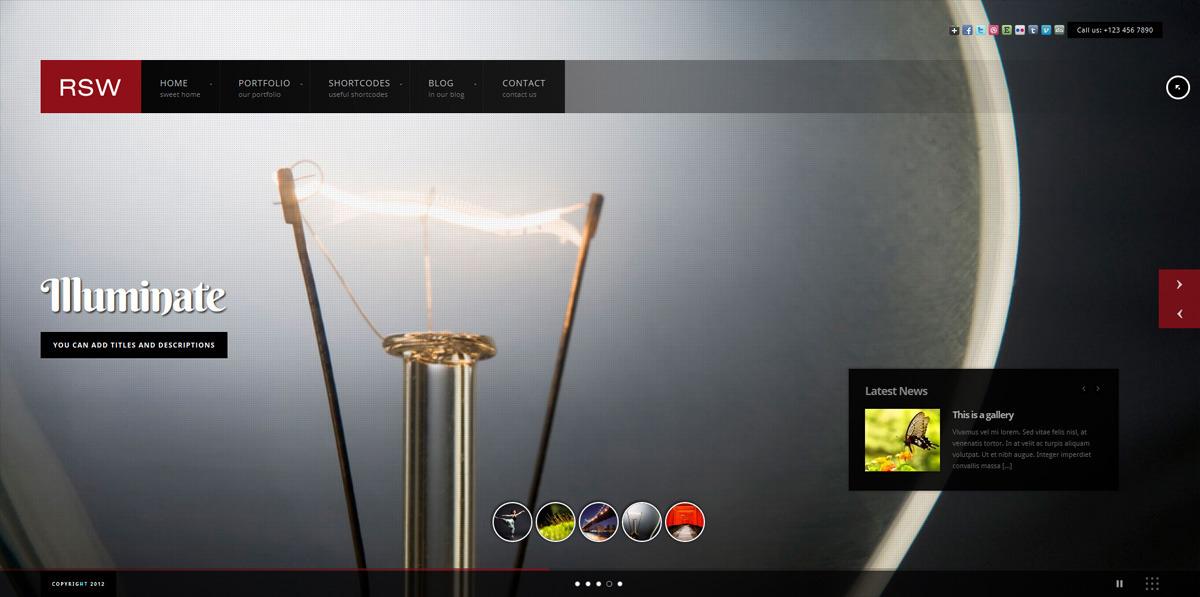 Responsive Fullscreen Studio for WordPress - Photography