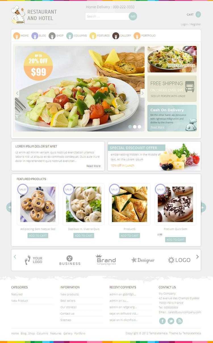 - Restaurant Ecommerce>WooCommerce