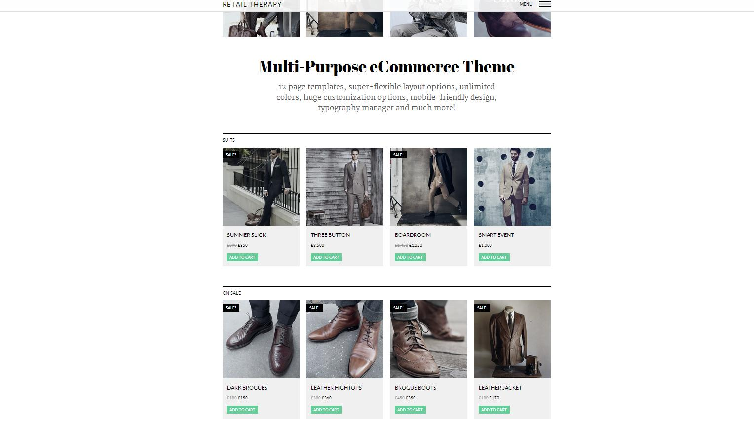 Retail Therapy - Multi-Purpose eCommerce Theme - Ecommerce|Premium wordpress themes