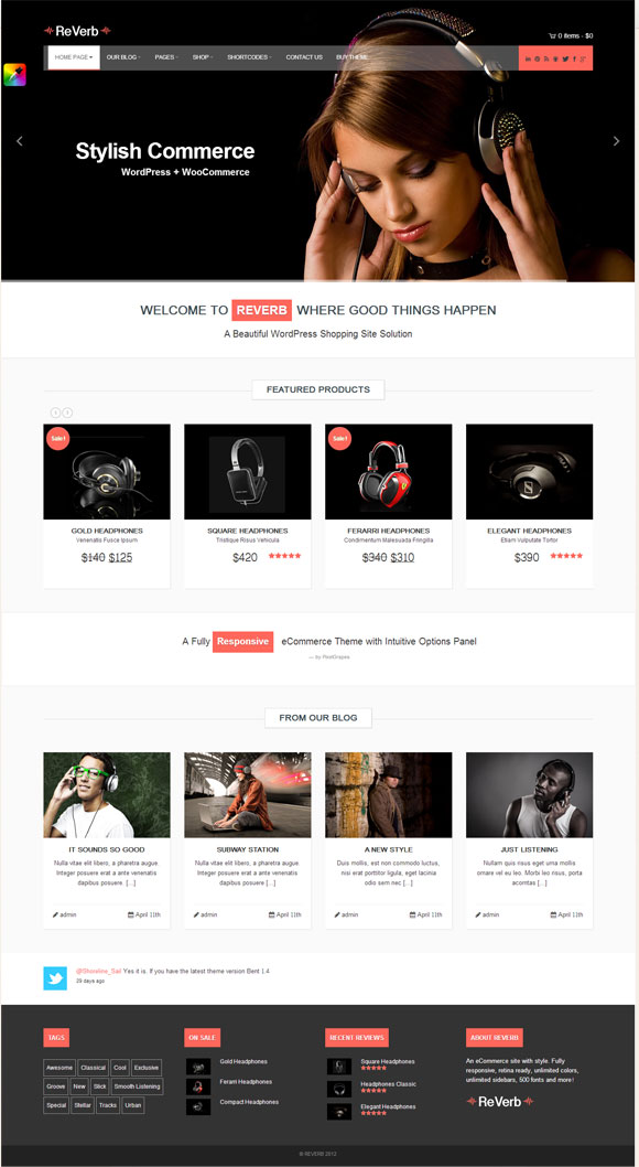 ReVerb - Responsive WooCommerce Theme - Ecommerce>WooCommerce