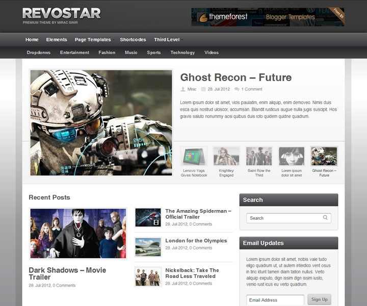 RevoStar - WordPress Magazine/Review Theme - Gaming|Review