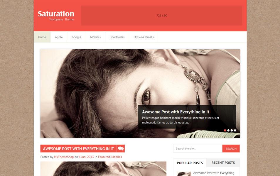 Saturation WordPress Theme - Magazine