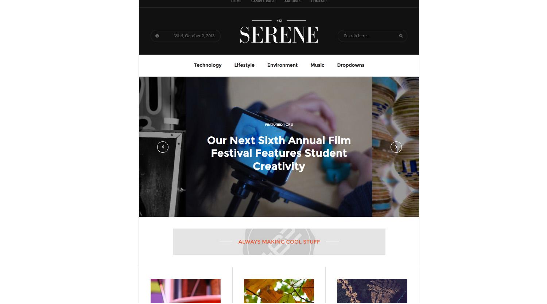 Serene - Magazine WordPress Theme - Business|Creative
