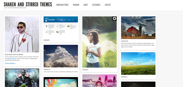 Shaken Grid free wp Theme - Blog|Free wordpress themes|Pinterest