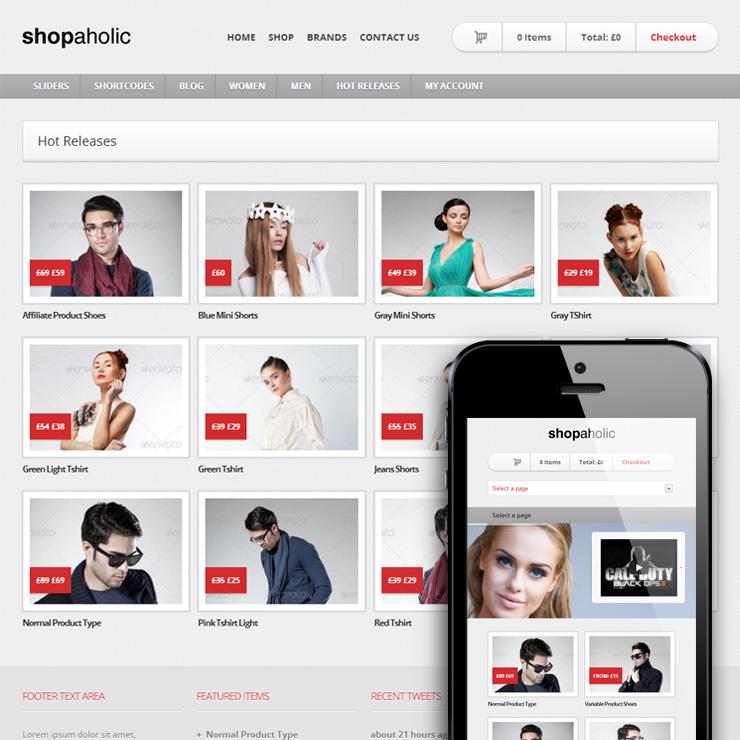 Shopaholic - Powerful WordPress ECommerce Store - Ecommerce>WooCommerce